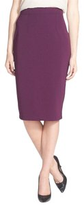 Halogen Pencil Wine Knit Skirt Purple