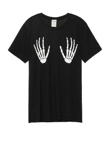 Victoria's Secret Skeleton Glow In The Dark T Shirt black