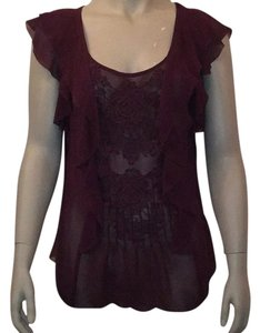 Anthropologie Top deep plum