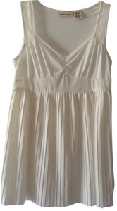 DKNY Lace Straps & Pleated Front Top cream