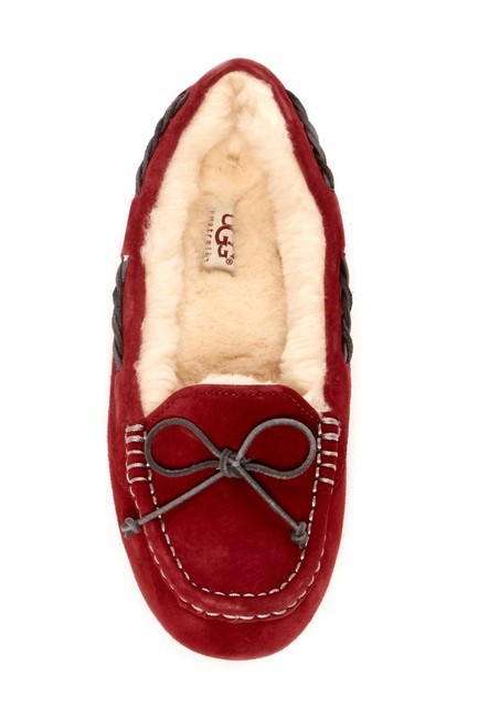 Item - Scarlet Red Tate Wool Lined Moccassin Loafer Slipper Flats Size US 6 Regular (M, B)