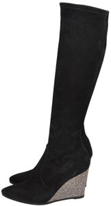 Stuart Weitzman Wedges Pull-on Style Black Boots