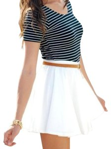 Maje Skater Mini Mini Skirt White