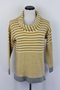 Anthropologie Striped Cowl-neck Sweater