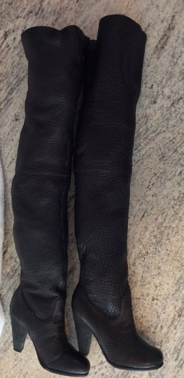JOE'S Jeans Leather Midcalf Knee Over The Knee Thigh High Black Boots