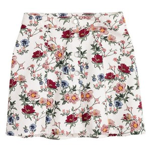 H&M Mini Skirt Floral White