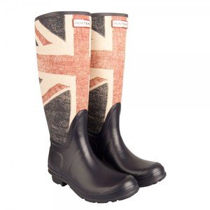 Hunter Boot Wellie Welly Flag Brit Multi Boots