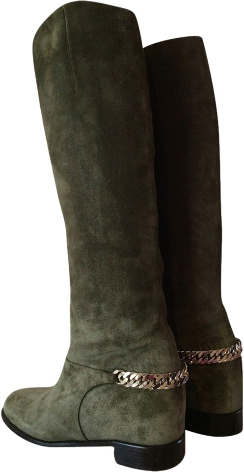 76ed0debe01 Christian Louboutin English Green Cate Riding Boots/Booties Size US 6.5  Regular (M, B)