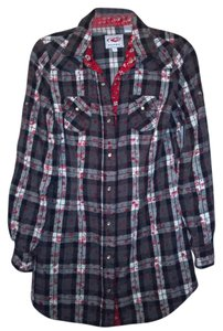 Roper Button Down Shirt Black, red, white