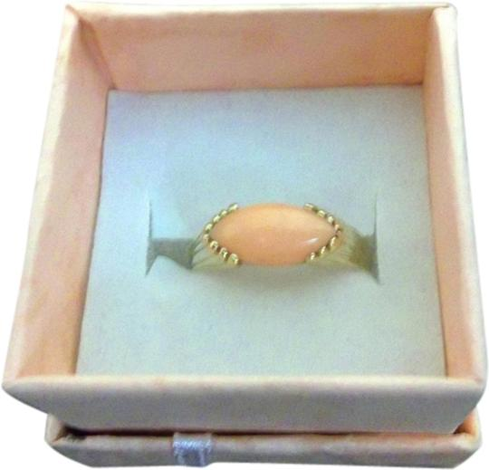 Custom-Made New Custom-Made Gold and Coral Ring. Size 6