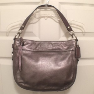Coach Shoulder Leather Hobo Bag