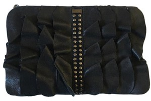 Be&D Leather Studded Black Clutch