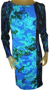 David Meister Multi Color Print Dress