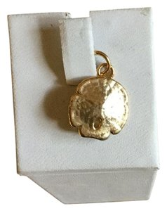 14k yellow gold dipped sand dollar Gold 14k Dipped Small Sand Dollar Charm