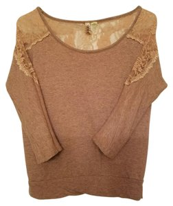 Eyeshadow Plunge Lace Cotton Detail Sweater
