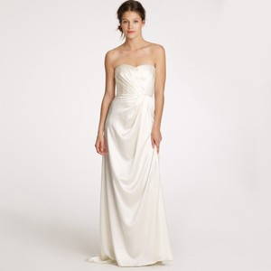 J.Crew Ivory Silk Satin Lorabelle Feminine Wedding Dress Size 2 (XS)