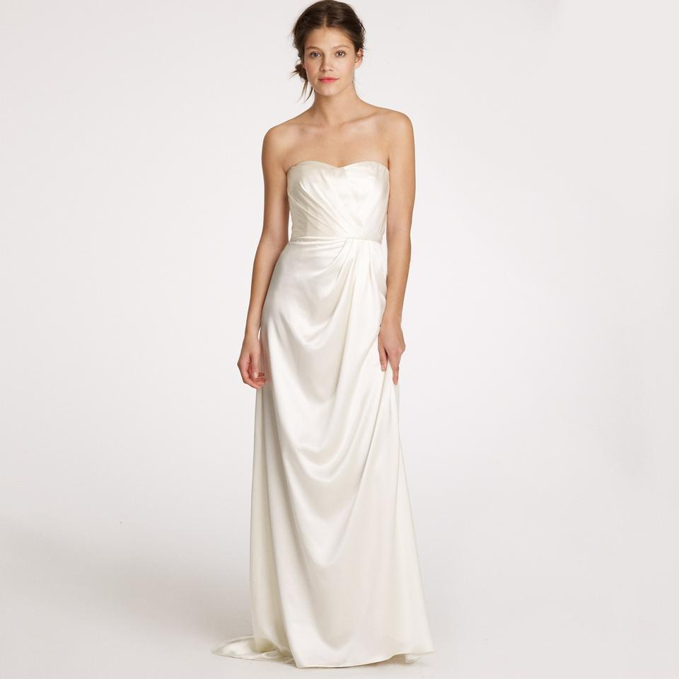 J.Crew Ivory Silk Satin Lorabelle Feminine Wedding Dress Size 2 (XS ...
