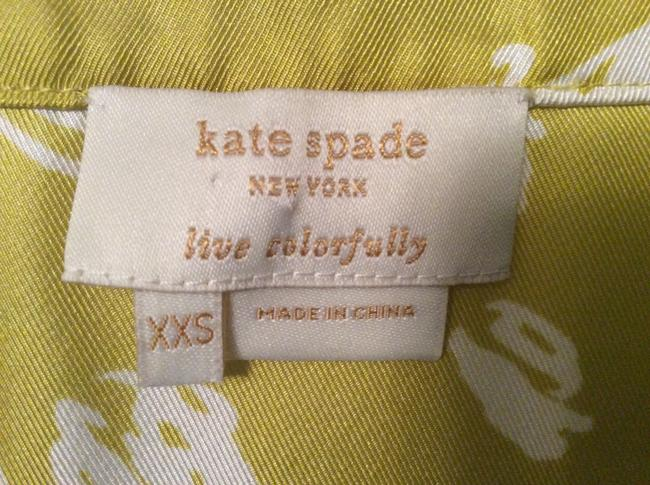 Kate Spade Top Chartreuse print