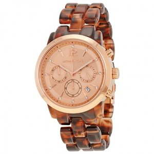 Michael Kors MICHAEL KORS Audrina Chronograph Tortoise Rose Gold-Tone Ladies Watch