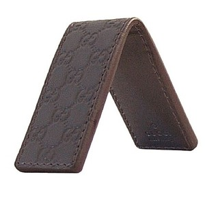 Gucci Gucci Dark Brown Money Clip