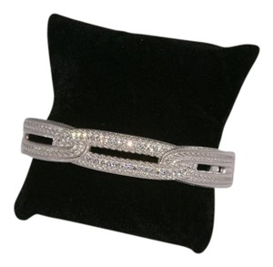Judith Ripka Judith Ripka Sterling Diamonique Hinged Cuff HOLIDAY READY