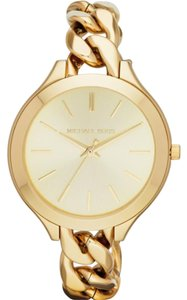 Michael Kors Slim Runway Champagne Dial Gold-tone Ladies Watch