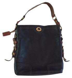 Coach leather black and brown hobo Hobo Bag