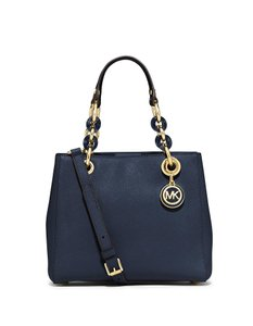 Michael Kors Cynthia Small Satchel in Navy