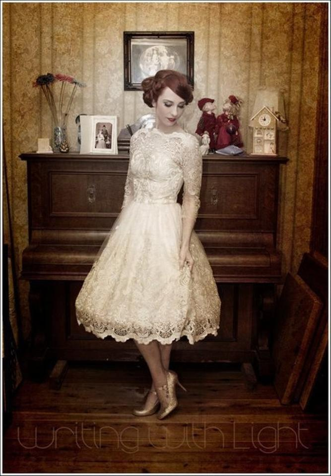 bfd94b9cd6f Modcloth Champagne Gilded-grace-dress-in-champagne Retro Wedding Dress