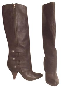 Miss Sixty Leather Knee High Designer Gaucho Brown Boots
