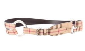 Burberry Beige, multicolor Burberry Nova Check print multistrap belt L Large