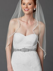 Mariell Bejeweled Bridal Sash With Breathtaking Genuine Crystal Applique 4459sh-w-s