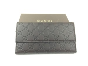 Gucci Gucci Guccissima Dark Brown Leather Continental Wallet (257303)
