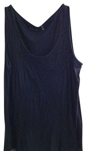Caslon Beaded Comfortable Everyday Wear Top Black