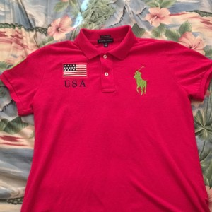 Polo Ralph Lauren T Shirt Hot pink lime green