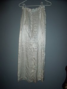 Silk Pockets Vintage Relaxed Pants White
