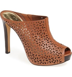 Vince Camuto Stiletto Bootie Shootie saddle leather Mules