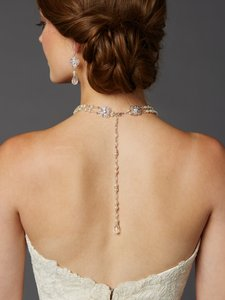 Mariell Pearl And Filigree 2-row Bridal Back Necklace 4397n-lti-cr-s