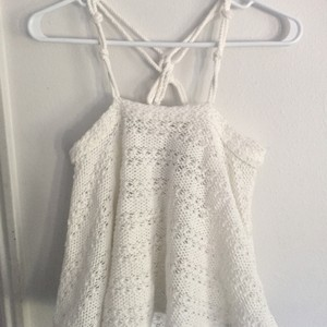 Free People Beach Crochet Top off white