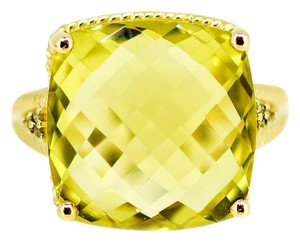 Other 14K Yellow Gold Lemon Citrine Gemstone Ring 7.3 Grams Size 8