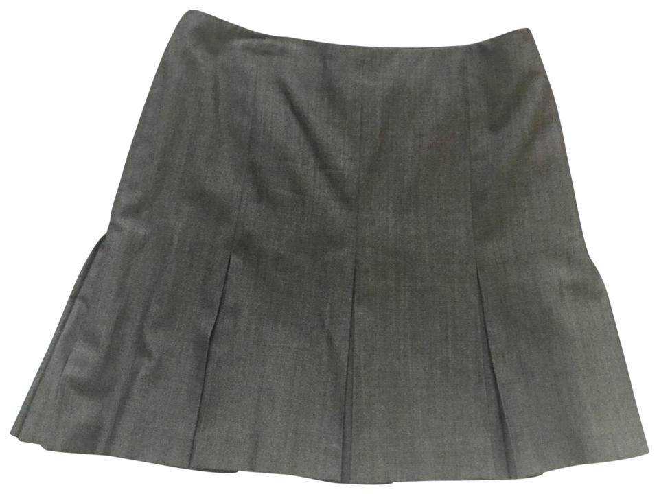 b03ad15f91 Barbara Bui Grey Pleated Light Wool Skirt Size 12 (L, 32, 33) - Tradesy