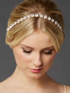 Mariell Rose Gold Bridal Headband With Genuine Preciosa Crystals 4455hb-rg-i