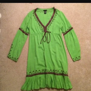 Moda International short dress Lime green on Tradesy