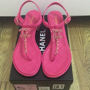 Chanel Sandal Leather Pink Sandals