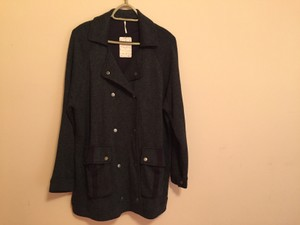 Free People Snap Front Closure Dark Grey Heather Jacket
