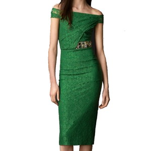 Burberry Prorsum Lace Sexy Jeweled Stunning Dress