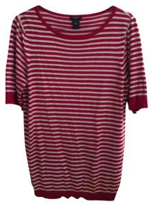 Ann Taylor Stripes Short Sleeves Professional Comfortable Versatile Sweater