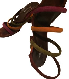 Ramon Tenza Orange, Purple, Olive, Chocolate Brown Suede Mules