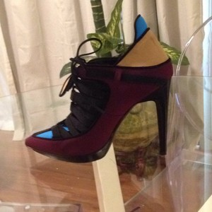 Pierre Hardy Blue,maroon,tan,and black Platforms