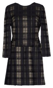 Chloé short dress Tartan Plaid Pleated Short on Tradesy